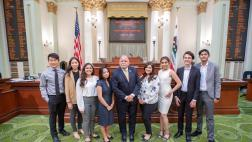 Medina Youth Advisory Committee Visits Assembly Floor